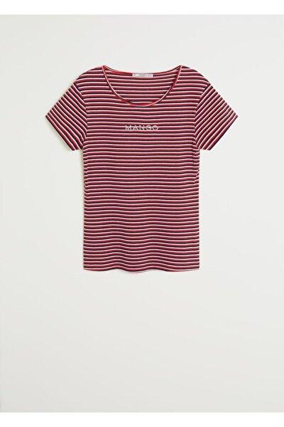 Kadın Kırmızı Logolu Tişört