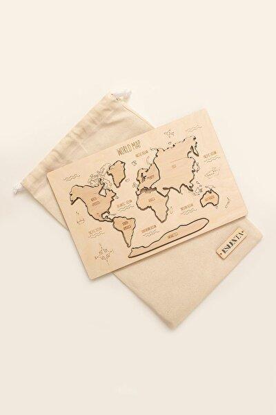 Yapboz Ahşap Dünya Haritası