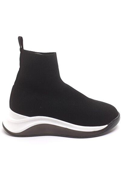 Kadın Siyah Çorap Bot