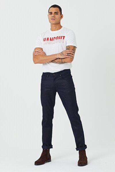 Erkek Koyu Lacivert Slim Fit Pantolon