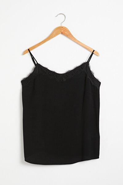 Kadın Siyah Bluz 0WGR73Z8