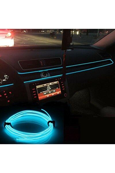 Araç Içi Neon Ledi Ip Led 2 Metre Buz Mavi