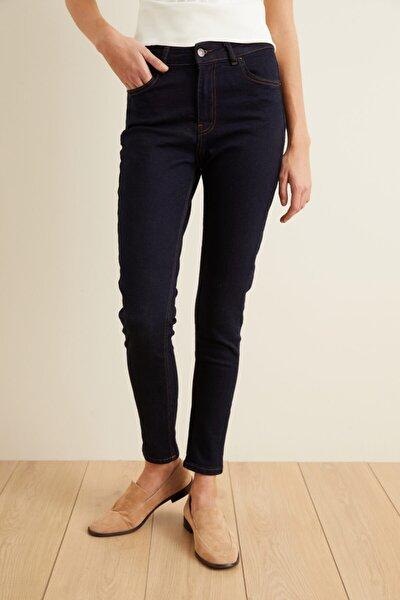 Kadın Lacivert Jean Skinny Pantolon
