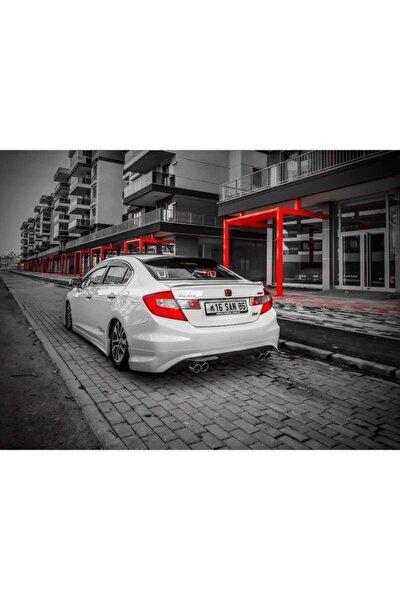 Honda Cıvıc Egzoz Ucu Çift Çıkış 2 Adet Sağ Sol Takım
