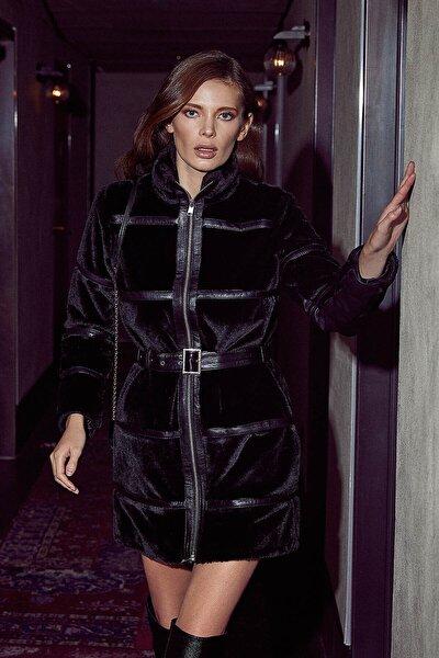 Kadın Siyah Deri Ceket