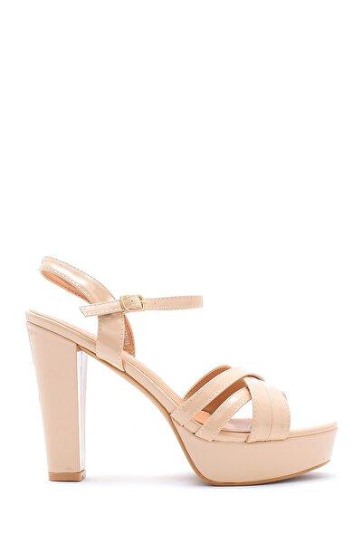 Kadın Bej Rugan Topuklu Ayakkabı