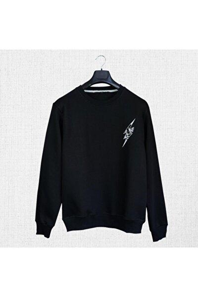 Unisex Siyah Sweatshirt