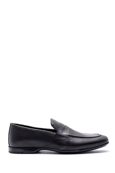 Erkek Siyah Deri Klasik Loafer