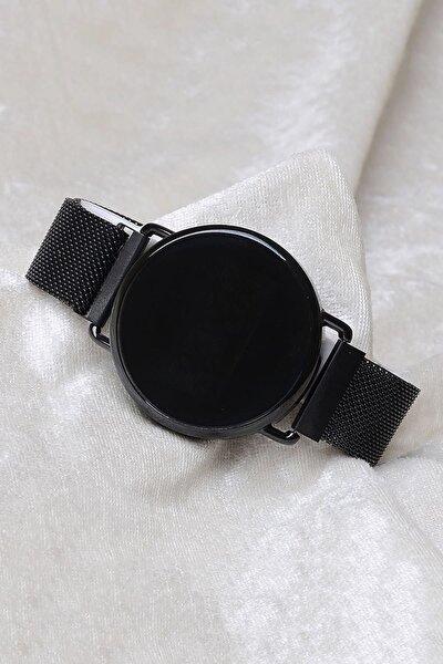 Unisex Siyah Mıknatıslı Dokunmatik Kol Saati XT250131