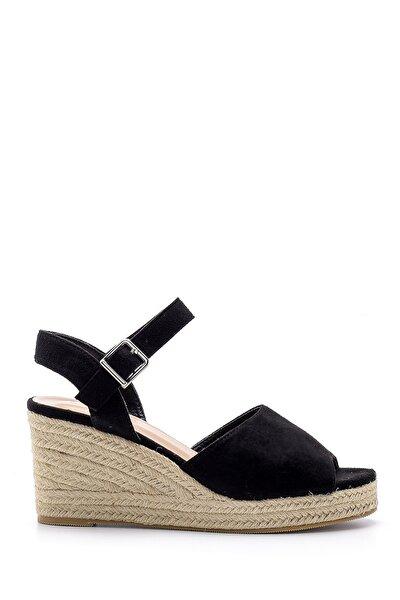 Kadın Siyah Dolgu Topuklu Sandalet