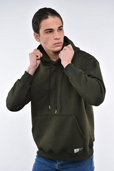 Erkek Nefti Oversize Kapüşonlu Cepli Sweatshirt