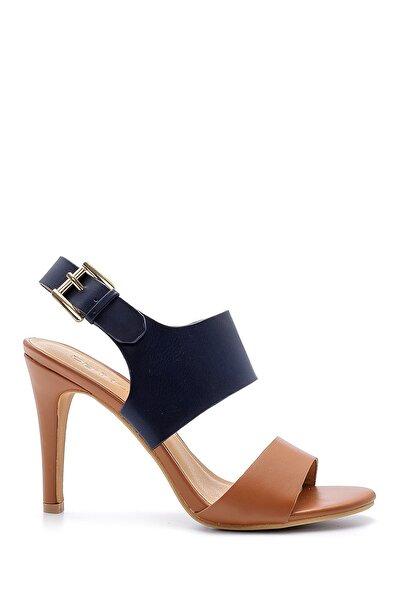 Kadın Lacivert Toka Detaylı Topuklu Sandalet