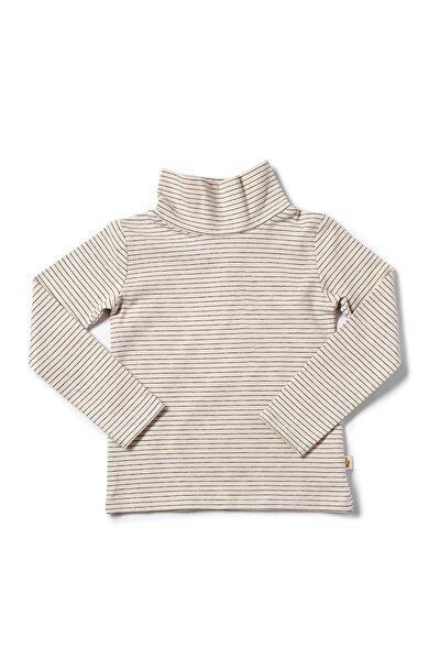 Çocuk Beyaz Organik Balıkçı Yaka T-shirt