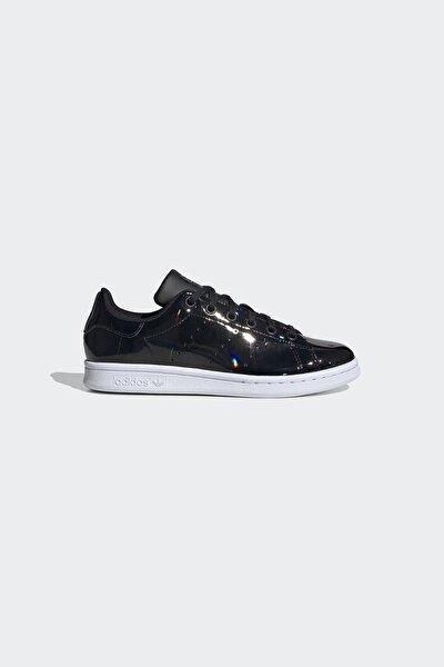 Kız Çocuk Siyah Stan Smith Günlük Spor Ayakkabı J Fw0733