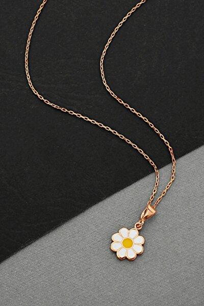 Gümüş Rose Papatya Kolye - N160501