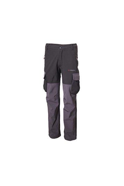 Erkek  Siyah  Kargo Cepli Softshell Outdoor Pantolon