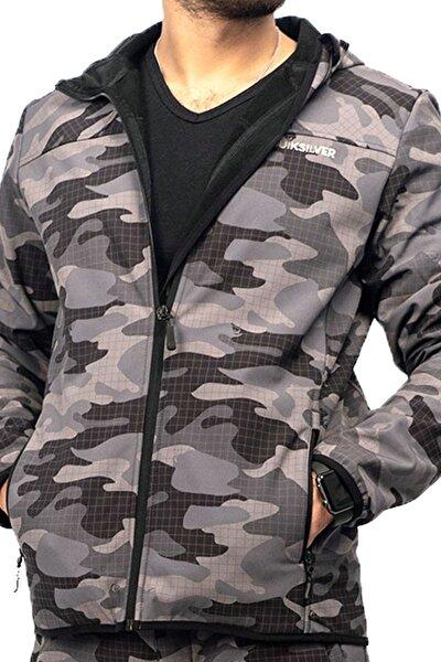 OD SFTSHLL JKT Kamuflaj Rengi Erkek Fermuarlı Sweatshirt 101068367