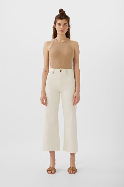Dikişsiz Fitilli Culotte Pantolon