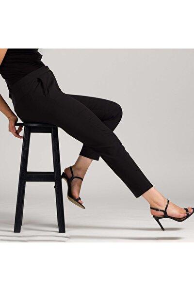 Kadın Siyah Dar Bilek Pantolon