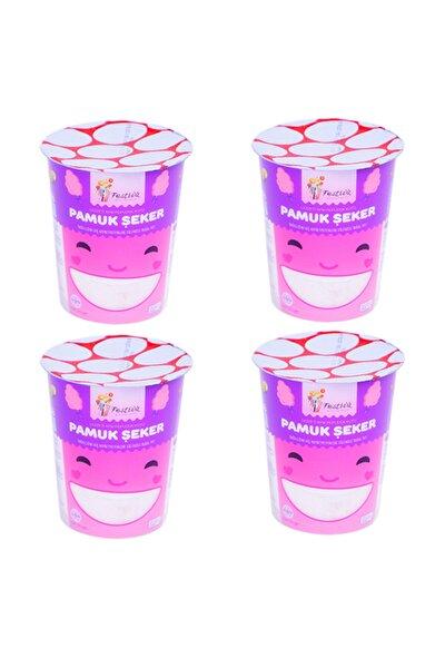 4 Kutu Hazır Bardak Pamuk Şeker - Doğal Çilek Parçacıklı 25 Gr.
