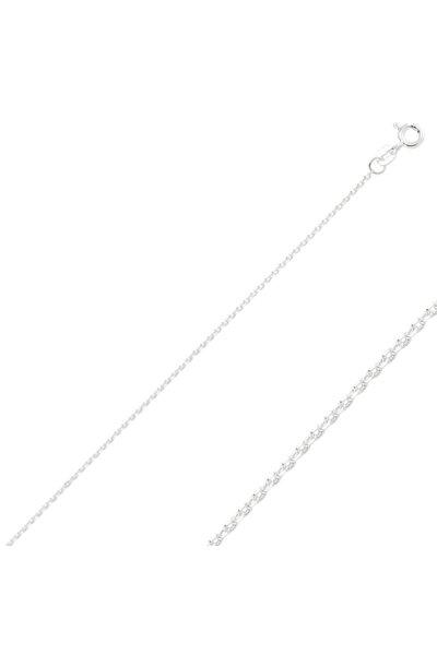 Kadın Gümüş 30 Mikron Tıraşlı Forse Zincir Kolye
