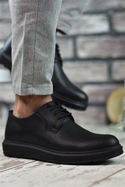 Erkek Siyah Yüksek Tabanlı Ayakkabı Rcn12548