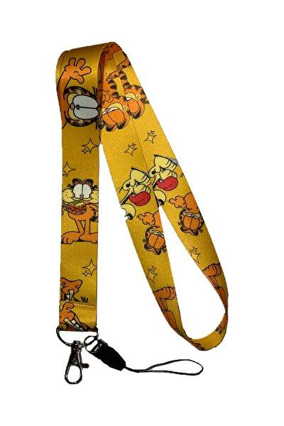 Garfield Desenli Yaka Kartı & Boyun Askı Ipi