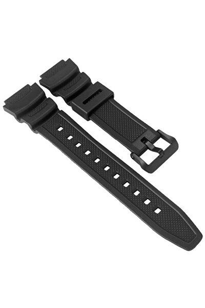 Sgw-300h-1a, Sgw-400h-1b Saat Uyumlu Siyah Renk Silikon Saat Kordonu Kayışı