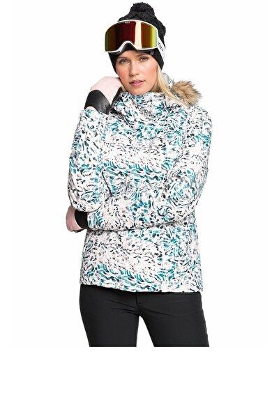 Kadın Beyaz Snowboard Ceketi Erjtj03265-wbb3