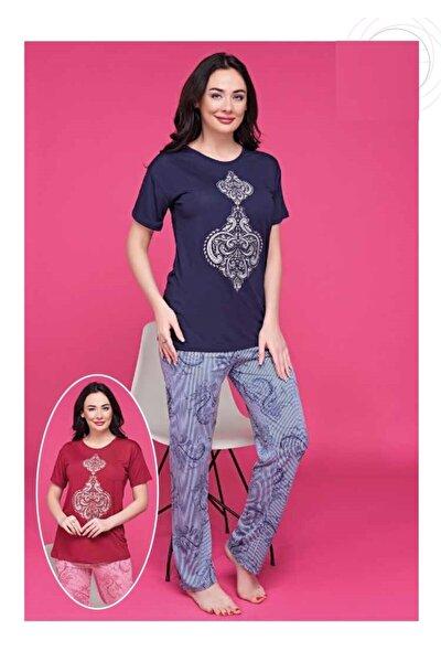 Kadın Pijama Takım Lacivert - S