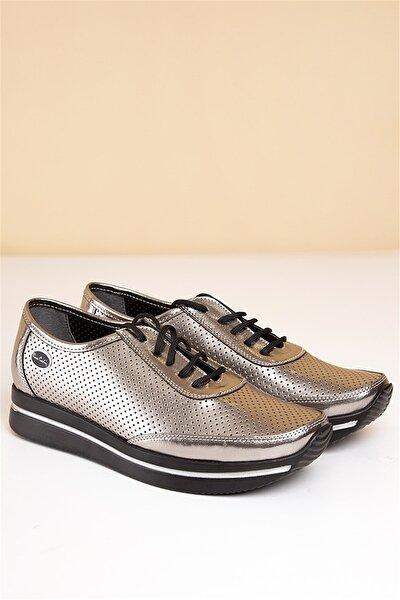 Pc-50100 Gümüş Kadın Ayakkabı