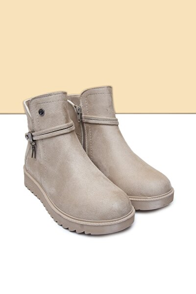 PC-50496 Suet Bej Kadın Ayakkabı
