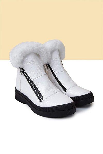 PC-50710 Rugan Beyaz Kadın Ayakkabı
