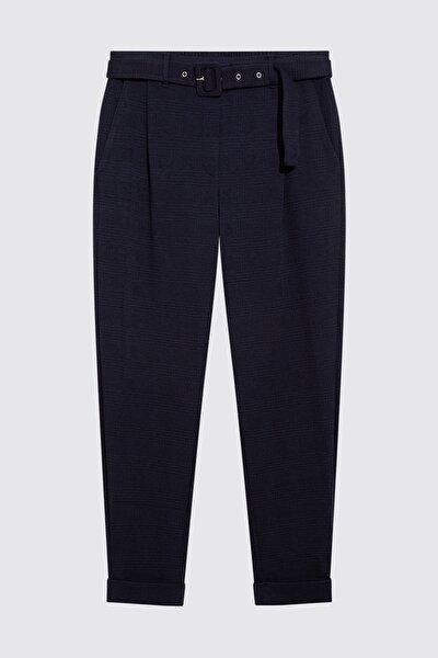 Kadın Lacivert Kemerli Pantolon T57007198M