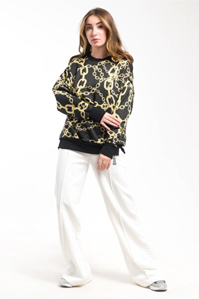 Kadın Digital Zincirli Sweatshirt