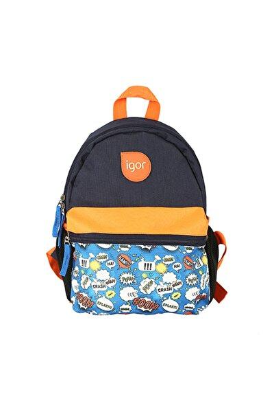 W80319 Lucky Boom Pop Lacivert Çocuk Okul Sırt Çantası