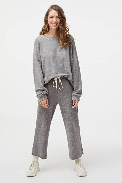 Kadın Gri Pamuklu Pantolon
