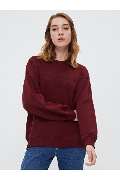 Kadın Bordo Sweatshirt 2025352