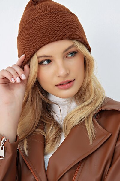 Kadın Kahverengi Basic Bere ALC-A2035