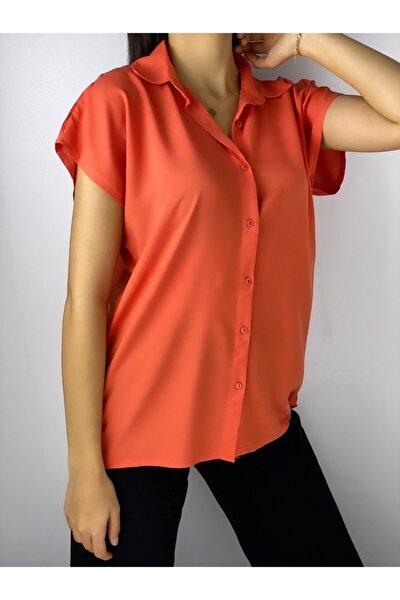 Kadın Turuncu Gömlek