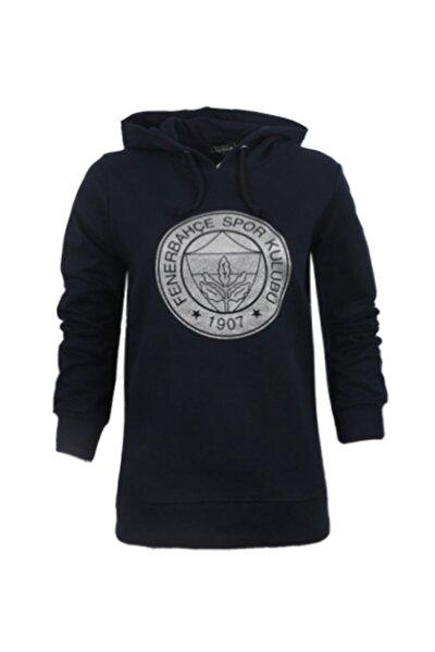 Kadın Lacivert Trıbun Gümüş Varak Logo Sweatshirt