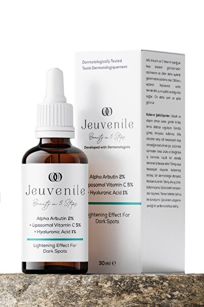 Alpha Arbutin %2 + Liposomal Vitamin C %5 + Hyaluronic Acid %1 Leke Karşıtı Serum 30 ml