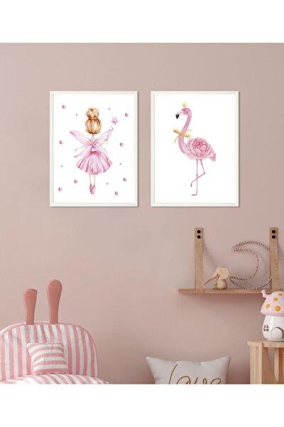 Bebek&çocuk Odası 2 Parça Çerçeveli Poster Tablo Seti 24x33