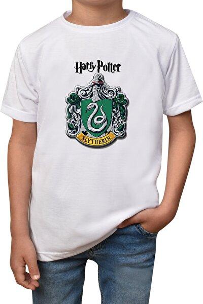 Erkek Çocuk Beyaz Harry Potter Baskılı T-Shirt