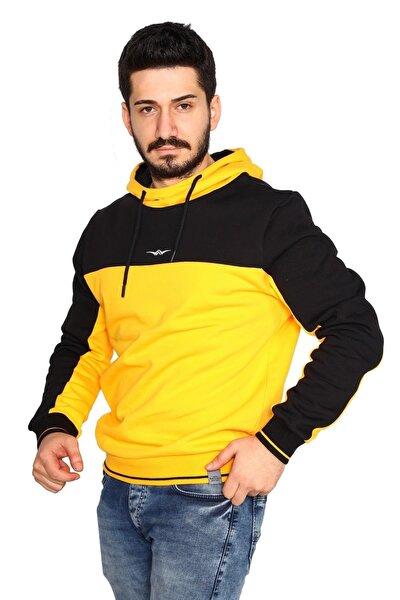 Unisex Yüksek Yaka Kol Üzeri Garnili Sweatshirt