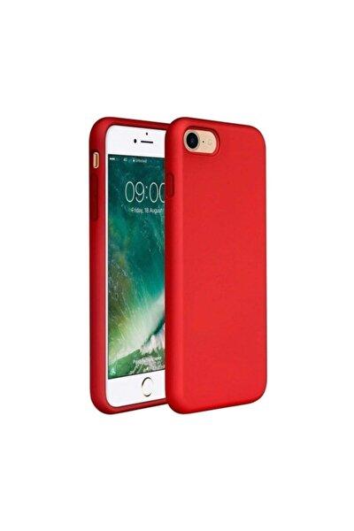 Apple Iphone 7 - 8 Içi Kadife Lansman Silikon Kılıf Kırmızı