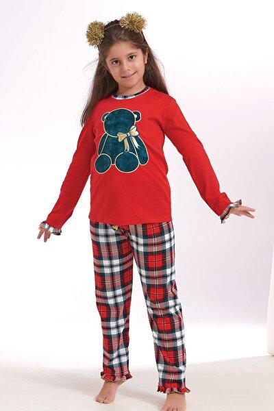 Kız Çocuk Nakışlı Pijama Takım