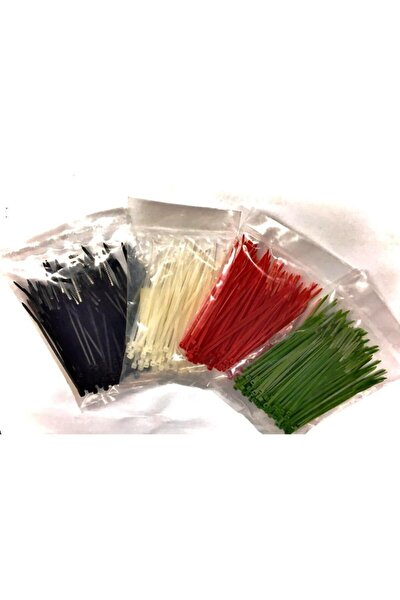 Yeşil Renkli Kablo Bağı Cırt Klips Plastik Kelepçe 100x2,5 100 Adet