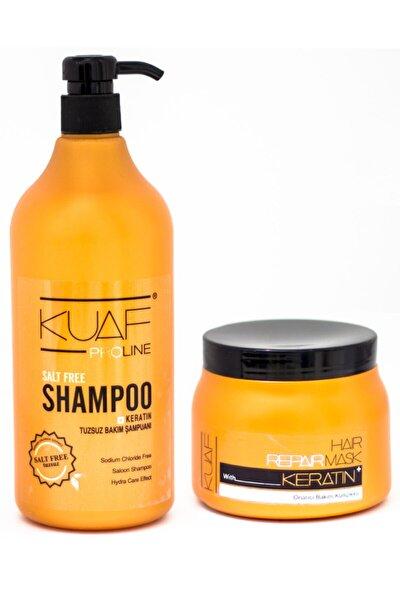 Tuzsuz Şampuan 1lt + Keratin Saç Maskesi 500 Ml