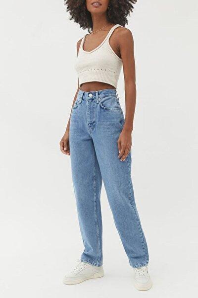 Kadın Mavi Yüksek Bel Baggy Jeans
